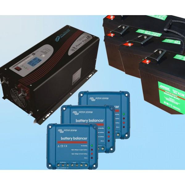 Система резервного питания 3кВт 48V; Общая мощность АКБ 11,5кВт