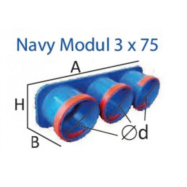 Navy Modul 3x75