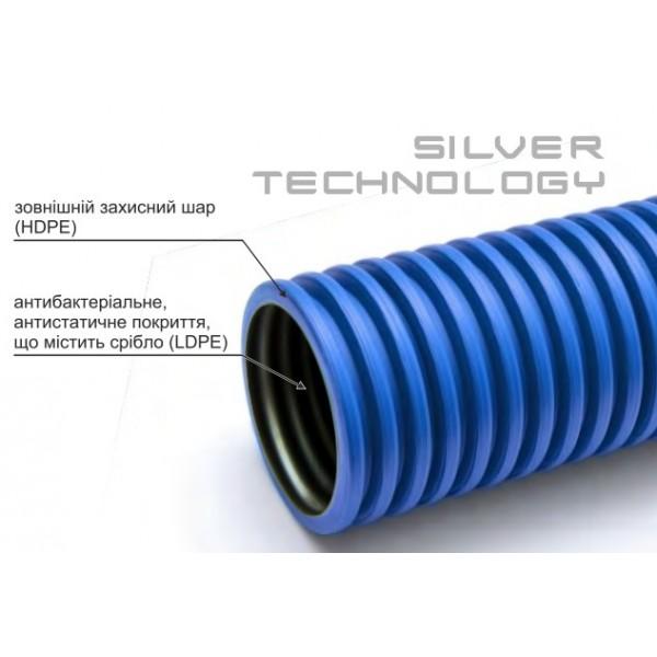 Воздухопровод антистатичный 75/63 NAVY VENT Silver