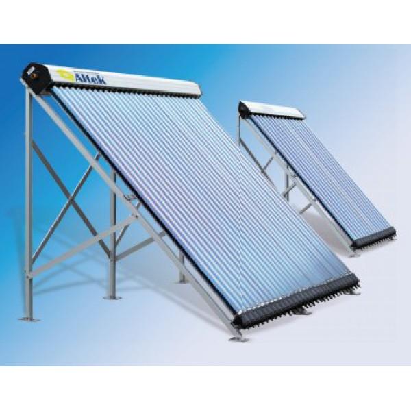 Солнечный вакуумный коллектор SC-LH2-10 (Heat Pipe конденсатор 14 мм) с опорами для плоской кровли.
