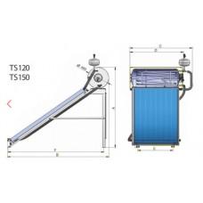 """Термосифонные установки под давлением """"Thermo siphon system"""" TS150CRS-150L"""