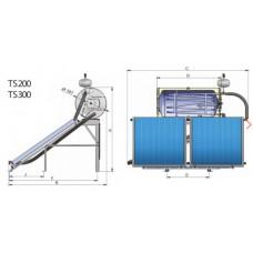"""Термосифонные установки под давлением """"Thermo siphon system"""" TS200CRS200L"""