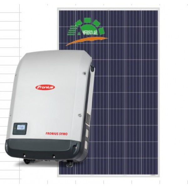 Сетевая солнечная станция 20кВт Fronius & AmeriSolar poli