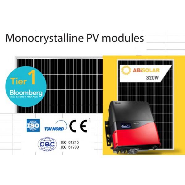 Сетевая солнечная станция 30кВт PrimeVolt & AbiSolar 320 MONO PERC 30.08 кВт