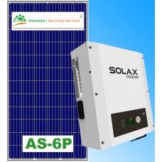 Сетевая солнечная станция 10кВт SolaX & AmeriSolar poly 280W 14.56кВт