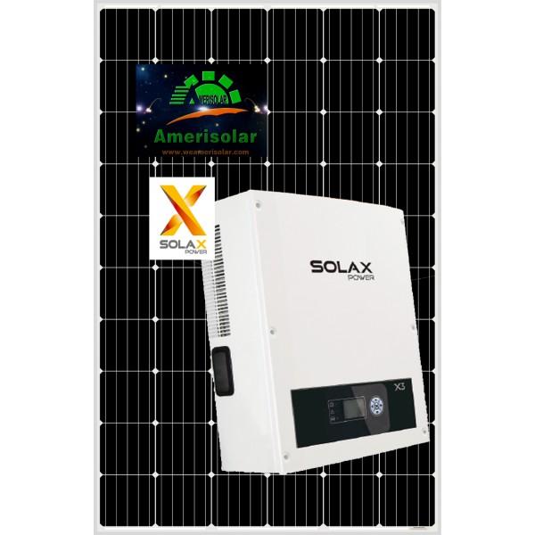 Сетевая солнечная станция 15кВт SolaX & AmeriSolar mono 300W 15.6кВт