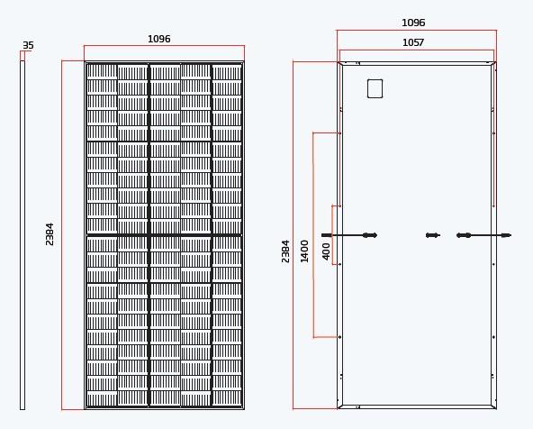 Vertex монокристаллический модуль размеры