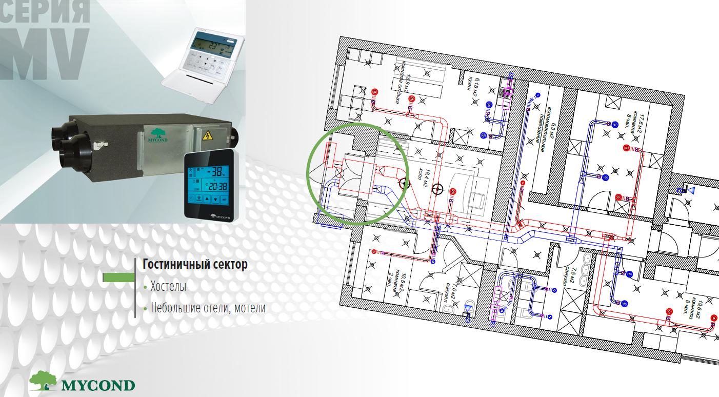 Приточно-вытяжные установки с рекуперацией для гостиниц и отелей в Николаеве