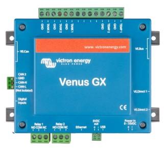 панель управления Venus GX с коннекторами