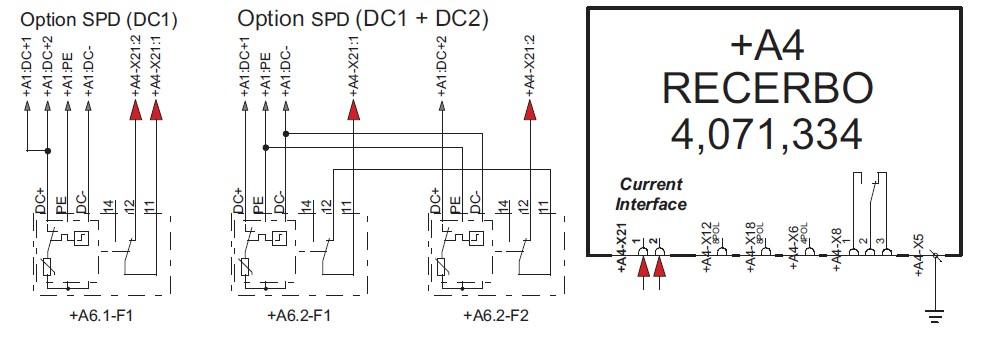 Электрическая схема подключения DC SPD
