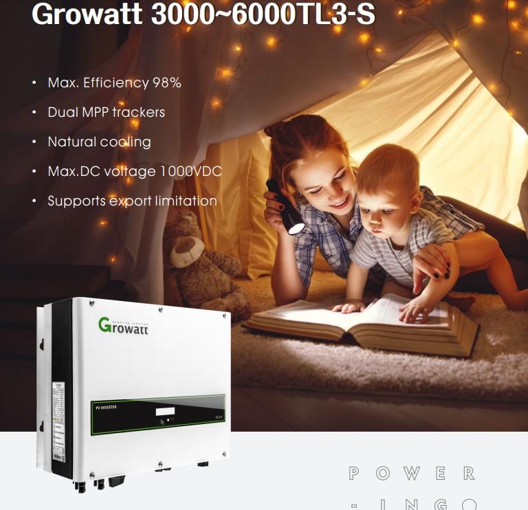 Сетевые инверторы Growatt для домашней станции